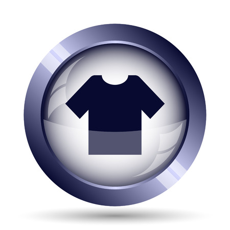 t short: T-shirt icon. Internet button on white background.