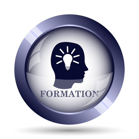 formations: Formation icon. Internet button on white background.