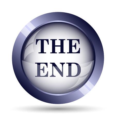 end: The End icon. Internet button on white background. Stock Photo