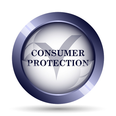 protection icon: Consumer protection icon. Internet button on white background.