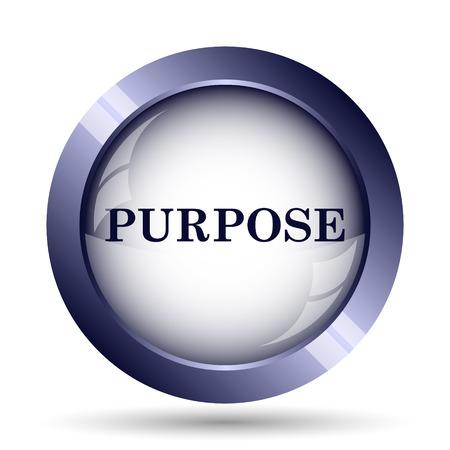 purpose: Purpose icon. Internet button on white background. Stock Photo