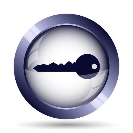 secret code: Key icon. Internet button on white background. Stock Photo