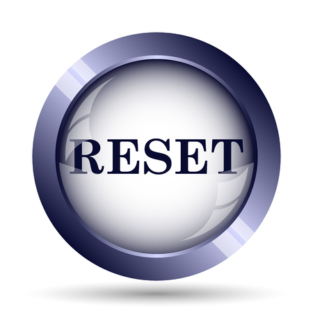 re: Reset icon. Internet button on white background.