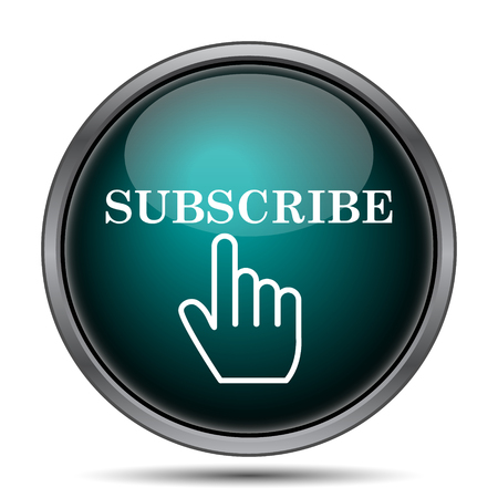 subscribe: Subscribe icon. Internet button on white background. Stock Photo