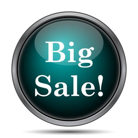 wholesale: Big sale icon. Internet button on white background.