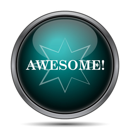 awesome: Awesome icon. Internet button on white background. Stock Photo
