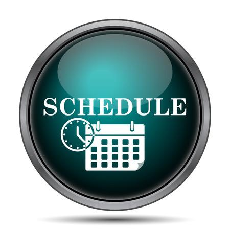 schedule: Schedule icon. Internet button on white background.