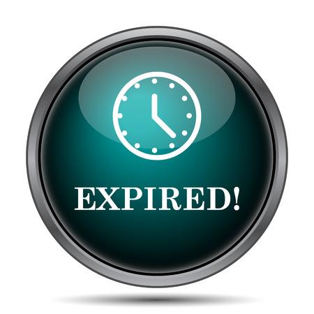 cancellation: Expired icon. Internet button on white background. Stock Photo