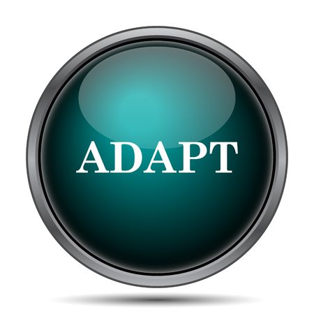 adapting: Adapt icon. Internet button on white background.