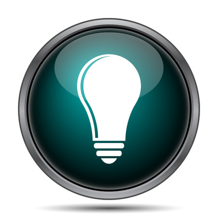 filament: Light bulb - idea icon. Internet button on white background.