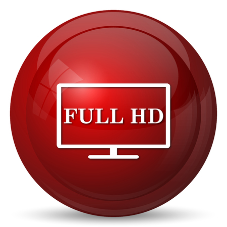 widescreen: Full HD icon. Internet button on white background.