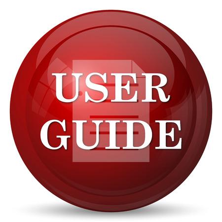 e reader: User guide icon. Internet button on white background.