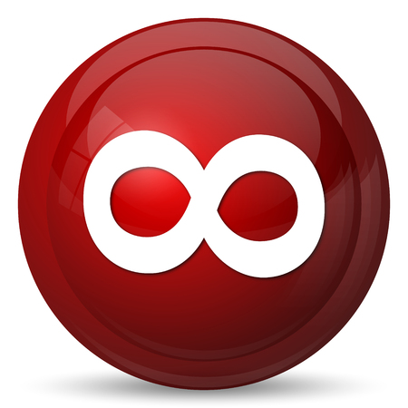 Infinity sign icon. Internet button on white background.