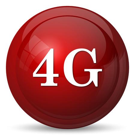5g: 4G icon. Internet button on white background.