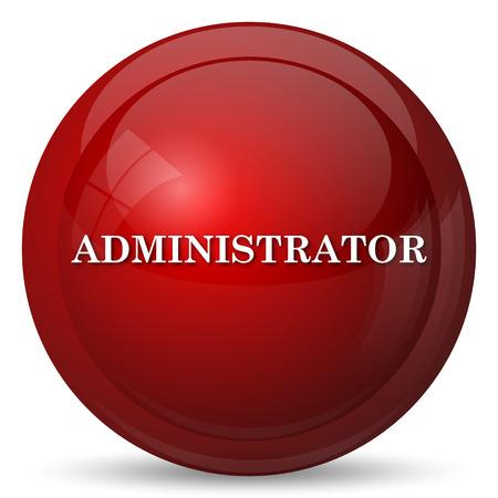icône Administrateur. bouton Internet sur fond blanc.