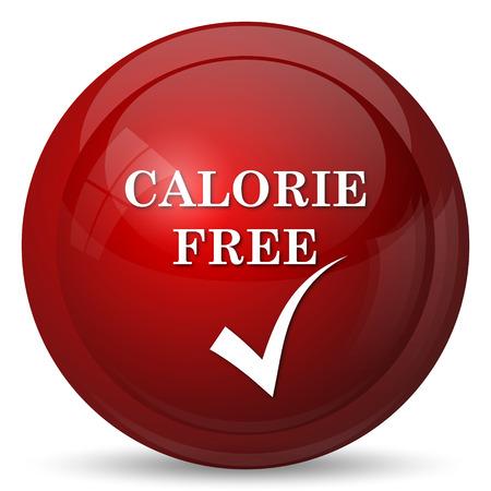 the calorie: Calorie free icon. Internet button on white background.