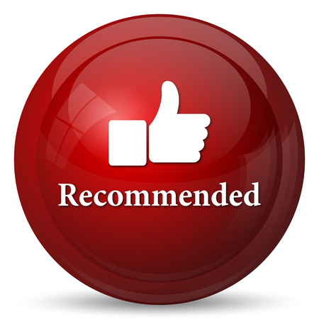 recommended: Recommended icon. Internet button on white background. Stock Photo