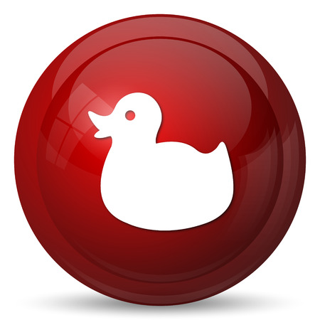 ducky: Duck icon. Internet button on white background.