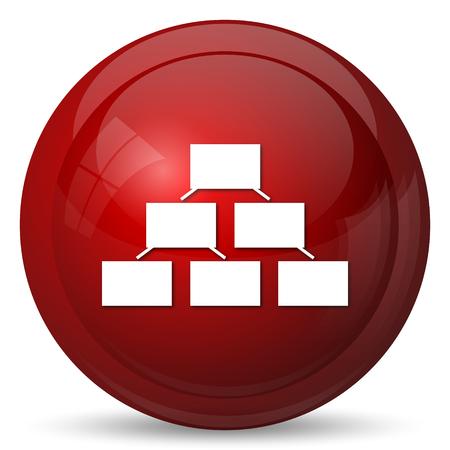 organizational: Organizational chart icon. Internet button on white background.