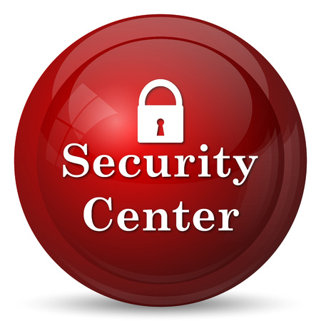 global security: Security center icon. Internet button on white background.