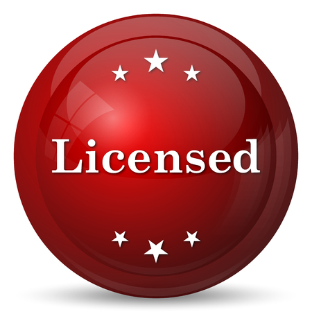 licensed: Licensed icon. Internet button on white background.