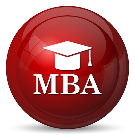 mba: MBA icon. Internet button on white background.
