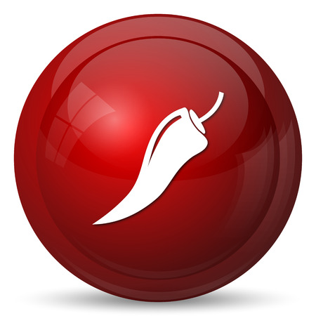 cayenne: Pepper icon. Internet button on white background.