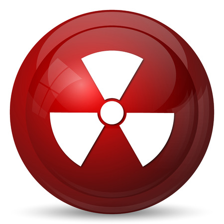 emanation: Radiation icon. Internet button on white background.