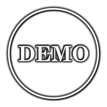Demo icon. Internet button on white background.