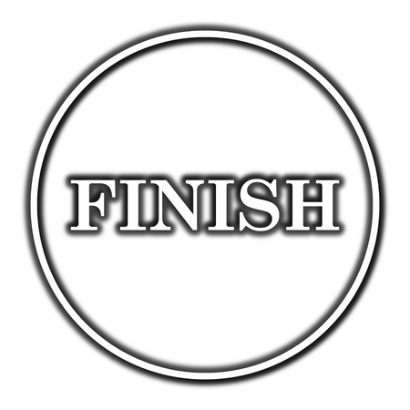 abort: Finish icon. Internet button on white background.