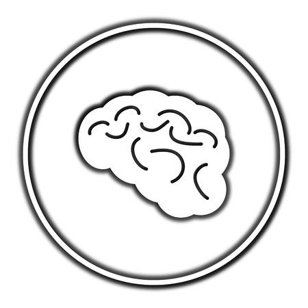 comprehension: Brain icon. Internet button on white background. Stock Photo