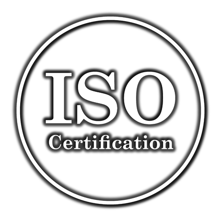 ISO Certification Icon. Internet Button On White Background. Stock ...