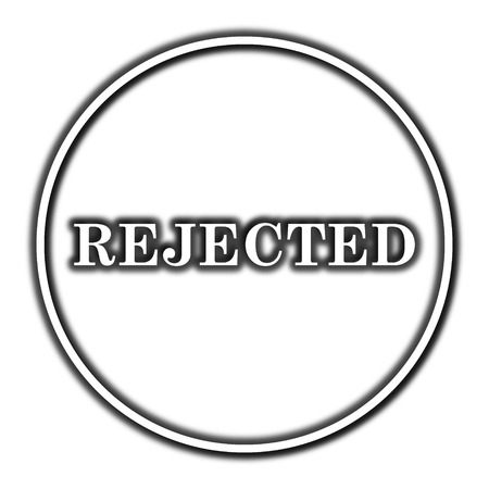 Rejected icon. Internet button on white background.
