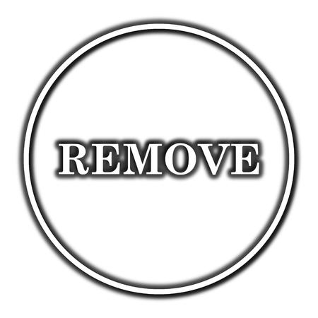 Remove icon. Internet button on white background.