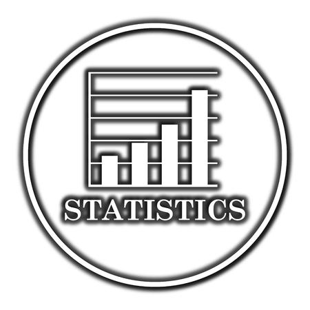 sales trend: Statistics icon. Internet button on white background.