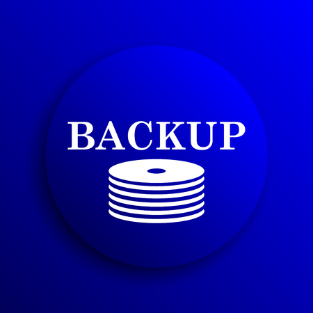 recover: Back-up icon. Internet button on blue background.