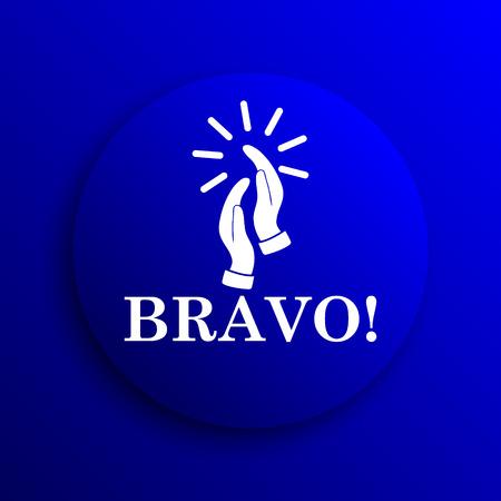 bravo: Bravo icon. Internet button on blue background.