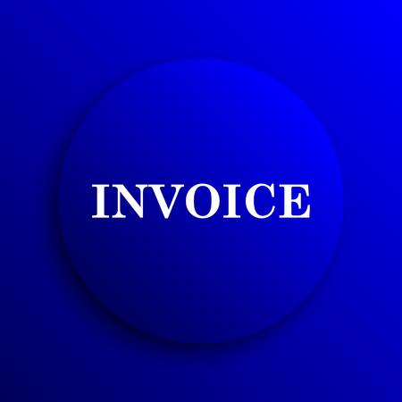 payable: Invoice icon. Internet button on blue background. Stock Photo