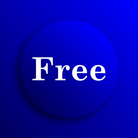 gratuity: Free icon. Internet button on blue background.