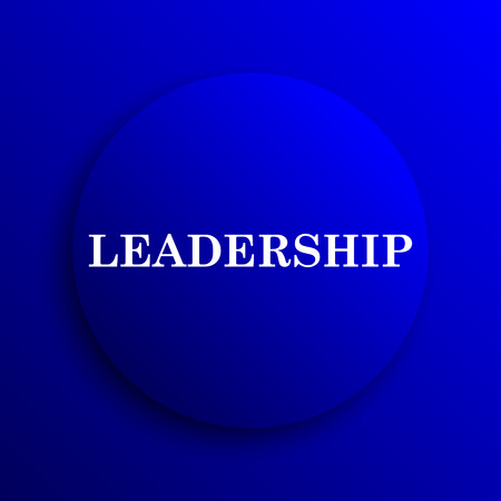 superintendence: Leadership icon. Internet button on blue background. Stock Photo