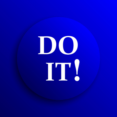 it background: Do it icon. Internet button on blue background. Stock Photo