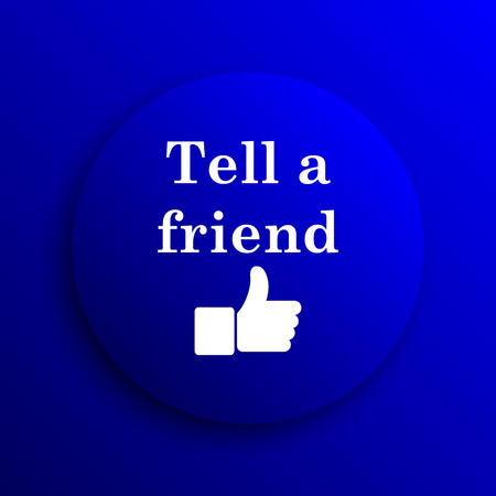 recommendations: Tell a friend icon. Internet button on blue background.