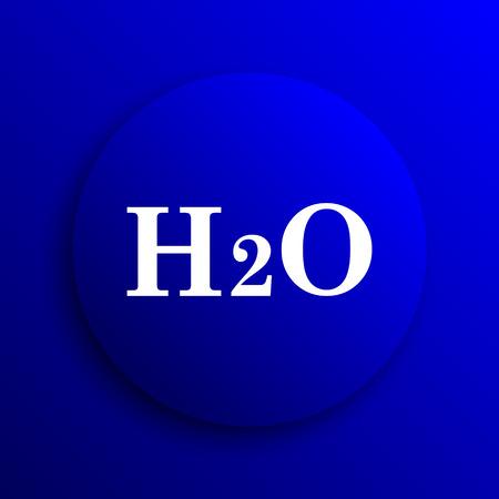 h2o: H2O icon. Internet button on blue background.