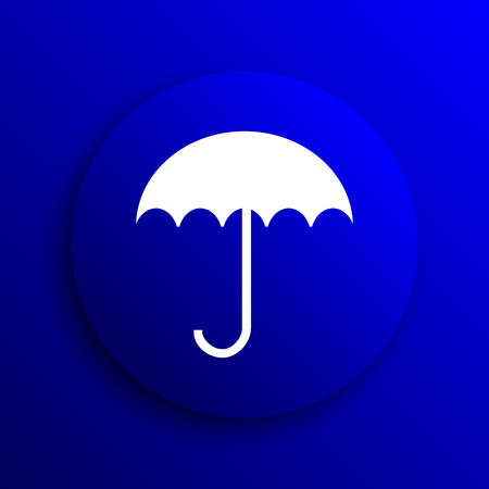 fall protection: Umbrella icon. Internet button on blue background.
