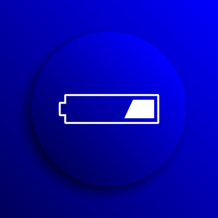 power button: 1 third charged battery icon. Internet button on blue background.