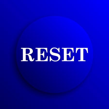 rebuild: Reset icon. Internet button on blue background. Stock Photo