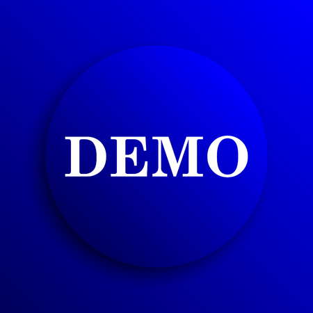 demo: Demo icon. Internet button on blue background.