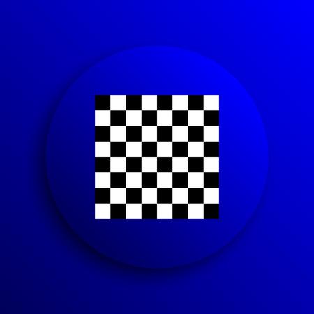 finish flag: Finish flag icon. Internet button on blue background.