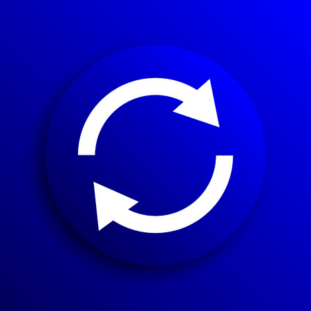 two arrows: Reload two arrows icon. Internet button on blue background.