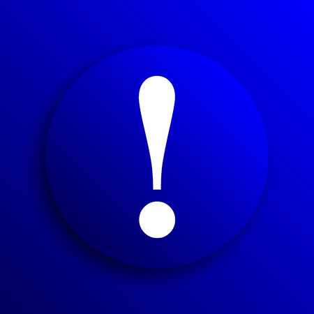 attention icon: Attention icon. Internet button on blue background.